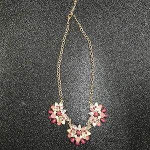The Loft Maroon floral necklace